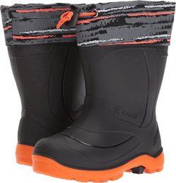Kamik Boys' Snobuster2 Snow Boot, Charcoal/Orange, 12 Medium US Little Kid