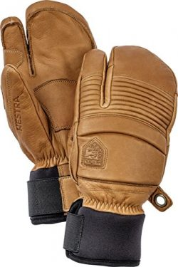 Hestra Leather Fall Line 3-Finger Short Leather Ski and Ride Glove/Mitten