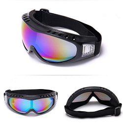 Flank Snowboard Ski Goggles Gear Skiing Sport Adult Glasses Anti-Fog UV Dual Lens (Multicolor)