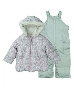 Carter's Little Girls' 2-Piece Heavyweight Printed Snowsuit, Cozy Pink Leopard/Dove  ...