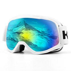Ski Goggles, Snow Goggles Snowboard Over Glasses Goggles for Boys & Girls, UV400 Protection  ...