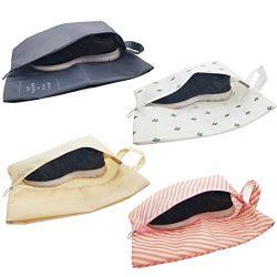 M-jump 4 PCS Portable Travel Shoe Bags,Multicolor Waterproof Storage Organizer Bag for Men Women