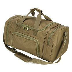 ARMYCAMOUSA Military Tactical Duffle Bag Gym Travel hiking & trekking Sports Bag with Shoes  ...