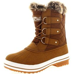 Polar Products Womens Snow Boot Nylon Short Fur Rain Winter Waterproof Snow Warm Boots – T ...