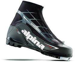Alpina Sports T10 Touring Cross Country Nordic Ski Boots, Black/White/Red, Euro 45