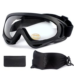 BabyCu Ski Goggles Skiing Sonwboard Goggles For Men Women & Youth With 100% UV Protection, T ...