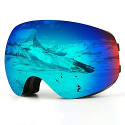 Ski Goggles, Snow Goggles Snowboard Over Glasses Goggles for Men, Women & Youth – UV40 ...