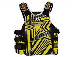 Jettribe UR-20 Shockwave Side Entry Race Vest Jetski Life Jacket (Yellow, S/M)