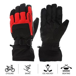 Mounchain Winter Ski Gloves Waterproof Windproof and Breathable Snow Gloves Fit Women and Men wi ...