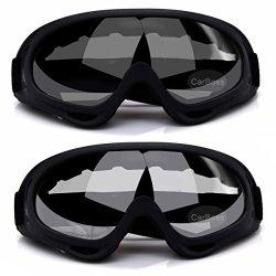 CarBoss Ski Goggles, 2-Pack Snowboard Goggles Skate Glasses, Motorcycle Cycling Goggles, CS Tact ...