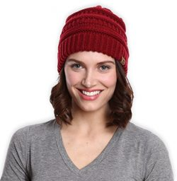 Tough Headwear Cable Knit Beanie – Thick, Soft & Warm Chunky Beanie Hats for Women &am ...