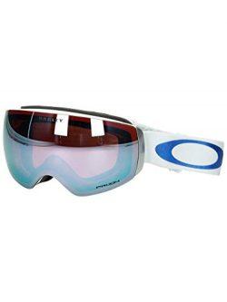 Oakley Women's Flight Deck XM Snow Goggles, White, Prizm Sapphire Iridium, Medium