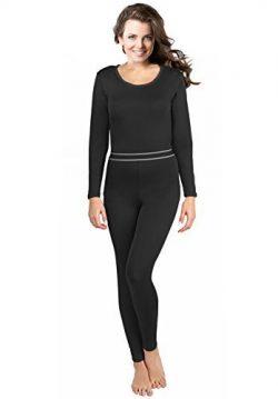 Women's 2pc Thermal Underwear, Top & Bottom Fleece Lined Long Johns – by Rocky,S ...