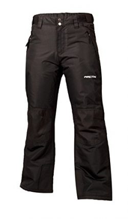 Arctix Youth Snow Pants with Reinforced Knees and Seat, Black, Small