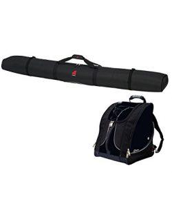Athalon 330/334 Deluxe Ski & Boot Bag Set (2 Piece), Black