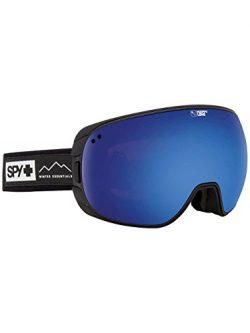 SPY Optic Bravo Essential Black Snow Goggles | Medium-Sized Ski, Snowboard or Snowmobile Goggle  ...