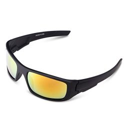 Polarized Sports Sunglasses UV400 Protection Cycling Glasses with 5 Interchangeable Lenses for C ...