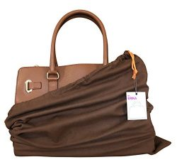 Dust Cover Bag , Set of 2, 100% Cotton Flannel, Storage for Handbags Purses Shoes Boots , Breath ...