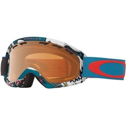Oakley O-Frame 2.0 XS Snow Goggles, Shady Trees Blue/Red, Small