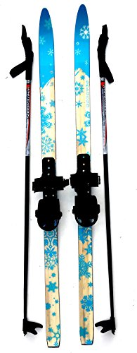 sporten Second Step Beginner Kids Junior Cross Country Skis 120cm Adjustable Universal Bindings  ...
