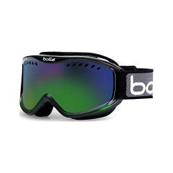 Bolle Carve Adult Ski Skimobile Goggles Eyewear – Black-Green Fade/Green Emerald/Medium