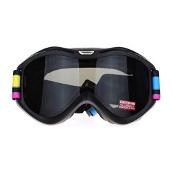 Unisex Pop Geometric Art Print Band Anti Fog Lens Large Snowboard Ski Goggle Black Lens