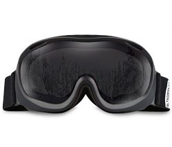 ALKAI Alta Ski Goggles, Snowboard Goggles – Anti-Fog, 100% UV Protection, Double-Layer Spherical ...