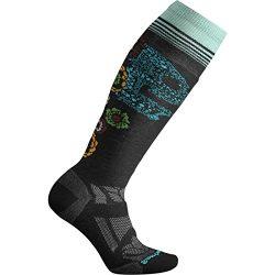 Smartwool Ski MED Pattern Skull Sock – Women's Black, M