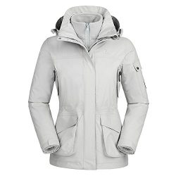 Camel Women's Interchange 3-in-1 Active Outdoor Sports Jacket Color Grey Size XL