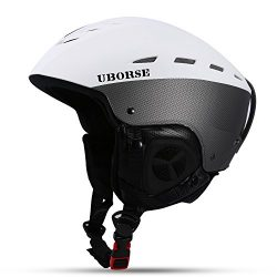 UBORSE Ski Helmet with Airflow Climate Control & Adjustable Fit Windproof Lightweight Profes ...