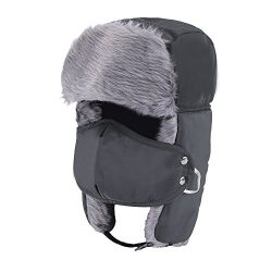 Prooral Unisex Winter Trooper Trapper Hat Hunting Hat Ushanka Ear Flap Chin Strap and Windproof  ...