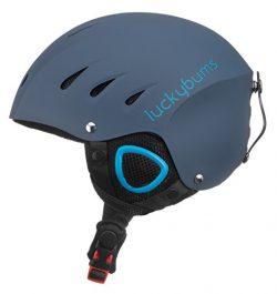Lucky Bums Snow Sport Helmet, Matte Steel/Blue, Large