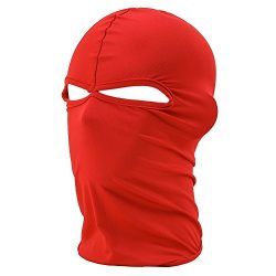 FENTI Lycra Sport Balaclava with Eye Hollow, Motorcycle Ski Cycling Face Mask , Red , One Size