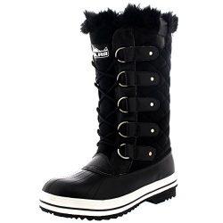 Polar Products Womens Snow Boot Quilted Tall Winter Snow Waterproof Warm Rain Boot – 8  ...