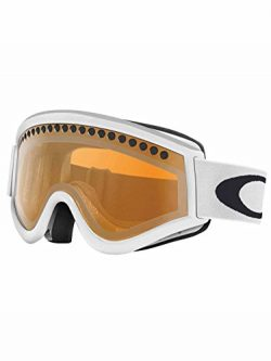 Oakley 57-789 E-Frame Snow Goggle, Snow Matte White with Persimmon Lens