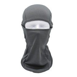 Chartsea Tactical Motorcycle Cycling Hunting Outdoor Ski Full Face Mask Helmet (Gray)