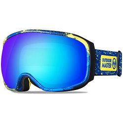 OutdoorMaster Ski Goggles PRO X – Ski & Snowboard Goggles with TruVis 2X Anti-Fog Lens ...