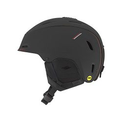 Giro Range Mips Snow Helmet – Men's Matte Black/Red Sport Tech Large
