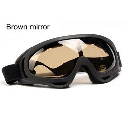 Mchoice New Ski Snowboard Motorcycle Dustproof Sunglasses Goggles Lens Frame Eye Glasses (D)