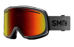Smith Optics Adult Range Snow Goggles,Charcoal Frame/Red Sol-X Mirror