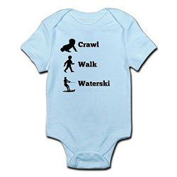 CafePress Crawl Walk Waterski Body Suit – Cute Infant Bodysuit Baby Romper