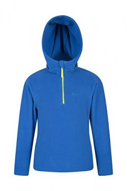 Mountain Warehouse Camber Kids Hoodie – Durable Childrens Summer Coat Blue 7-8 Years