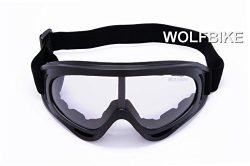 WOLFBIKE Super Black Motorcycle Cycling Bicycle Bike ATV Motocross Ski Snowboard Off-road Goggle ...