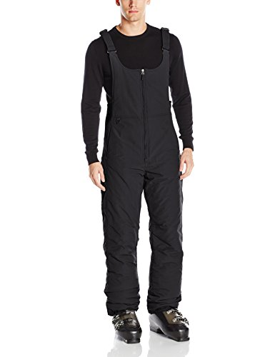 White Sierra Men's Toboggan Insulated Bib, Black, Large