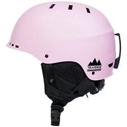 Traverse Sports 2-in-1 Convertible Ski & Snowboard/Bike & Skate Helmet, Matte Barely Pin ...