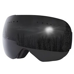 G4Free Frameless OTG Ski Snowboard Snowmobile Goggles with Double Lens for Winter Sports 100% UV ...