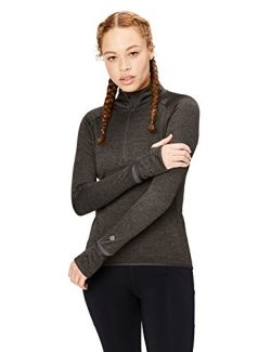 Core 10 Women's Be Warm Thermal Fitted Run Half-Zip (XS-XL, Plus Size 1X-3X), Dark Heather ...
