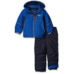 London Fog Little Boys' 2-Piece Snow Pant and Jacket Snowsuit, Blue, 7
