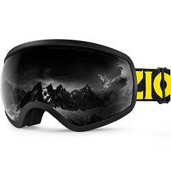 Zionor X10 Ski Snowboard Snow Goggles OTG for Men Women Youth Anti-fog UV Protection Helmet Comp ...