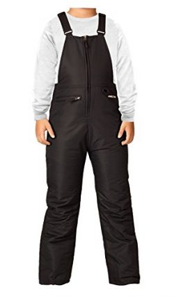 Arctix Youth Insulated Overalls Bib, Medium, Black